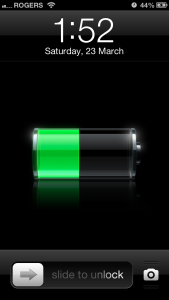 iPhone Battery Icon Drained